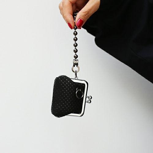 印傳屋(印伝屋) がま口アクセサリーケース -PUNCHING- / 財布・革財布/ミニ財布・小銭入れ