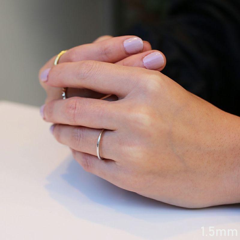 【JAM HOME MADE(ジャムホームメイド)】約束の指輪 1.5mm / 指輪 メンズ レディース ペア ペアリング 人気 ブランド おすすめ シンプル プラチナ 結婚指輪