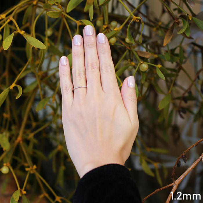 婚約指輪・エンゲージリング ウエディングリング / 約束の指輪 1.2mm / 指輪 メンズ レディース ペア ペアリング 人気 ブランド おすすめ シンプル プラチナ 結婚指輪
