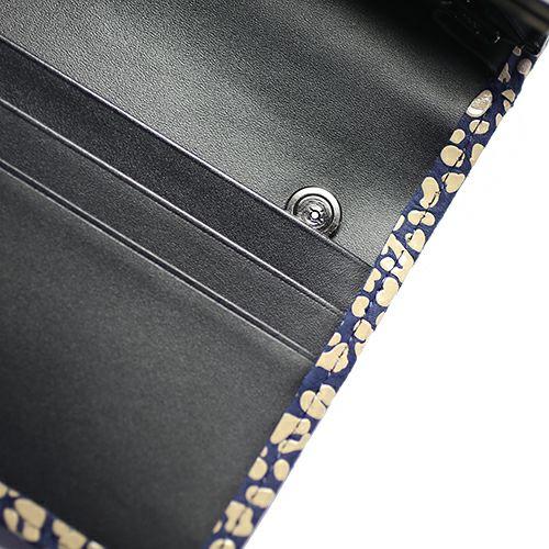 【ジャムホームメイド(JAMHOMEMADE)】オンラインショップ限定 印傳 - 印伝屋 4月 誕生石  長財布 束入れ がま口財布 レオパード柄