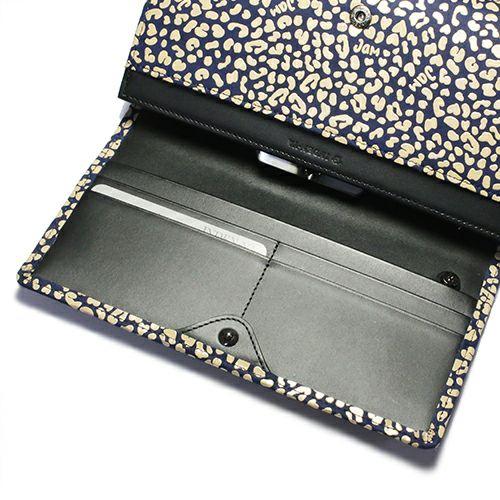 オンラインショップ限定 印傳屋(印伝屋) ロングウォレット・束入れ -LEOPARD- / 長財布
