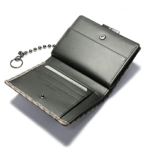 オンラインショップ限定 8月 誕生石 印傳屋(印伝屋) ミディアムウォレット・がま札財布 -ANECHOIC- / 二つ折り財布