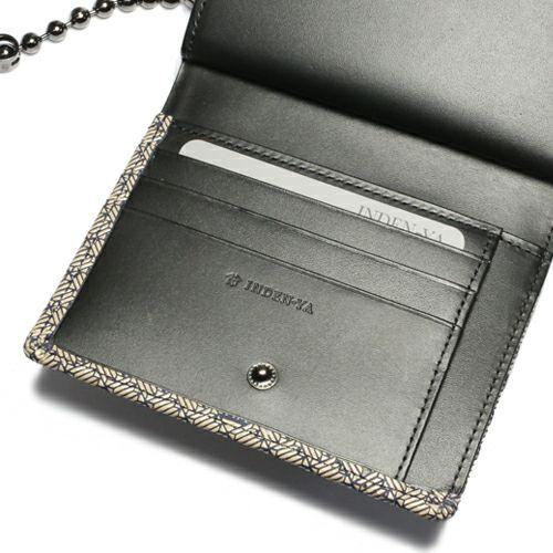 オンラインショップ限定 5月 誕生石 印傳屋(印伝屋) ミディアムウォレット・がま札財布 -ANECHOIC- / 二つ折り財布