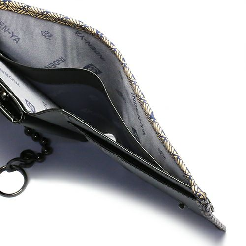 オンラインショップ限定 1月 誕生石 印傳屋(印伝屋) ミディアムウォレット・がま札財布 -ANECHOIC- / 二つ折り財布 / 財布・革財布