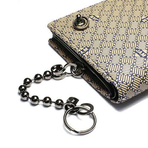 オンラインショップ限定 1月 誕生石 印傳屋(印伝屋) ミディアムウォレット・がま札財布 -ANECHOIC- / 二つ折り財布