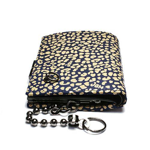 オンラインショップ限定 1月 誕生石 印傳屋(印伝屋) ミディアムウォレット・がま札財布 -LEOPARD- / 二つ折り財布