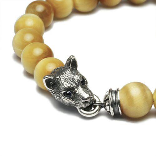 坂元勝彦 十二支数珠ブレスレット -戌(犬)- / GOLDEN TIGER'S EYE / ブレスレット ・ バングル