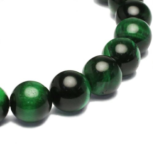 坂元勝彦 十二支数珠ブレスレット -巳(蛇)- / GREEN TIGER'S EYE / ブレスレット ・ バングル