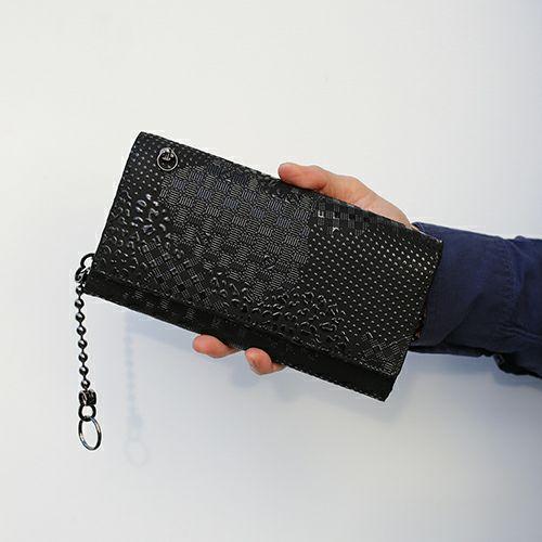 印傳屋(印伝屋) ロングウォレット・束入れ -山梨カモフラージュ- / 長財布