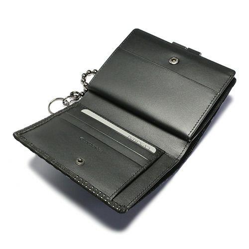 6月 誕生石 印傳屋(印伝屋) ミディアムウォレット・がま札財布 -山梨カモフラージュ- / 二つ折り財布