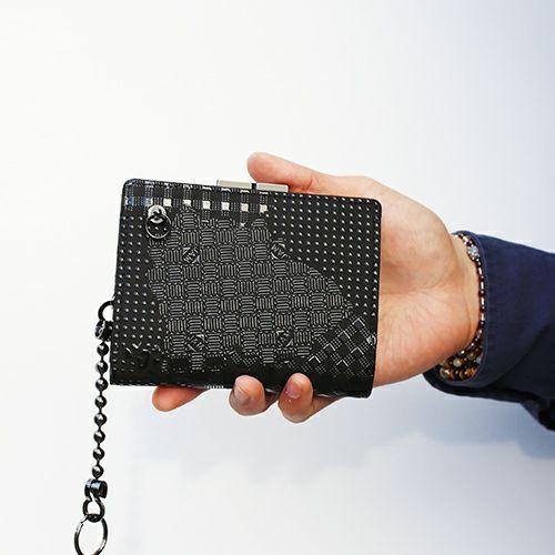 4月 誕生石 印傳屋(印伝屋) ミディアムウォレット・がま札財布 -山梨カモフラージュ- / 二つ折り財布