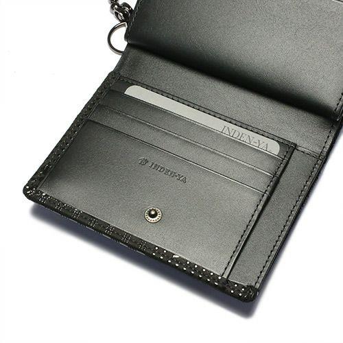 3月 誕生石 印傳屋(印伝屋) ミディアムウォレット・がま札財布 -山梨カモフラージュ- / 二つ折り財布