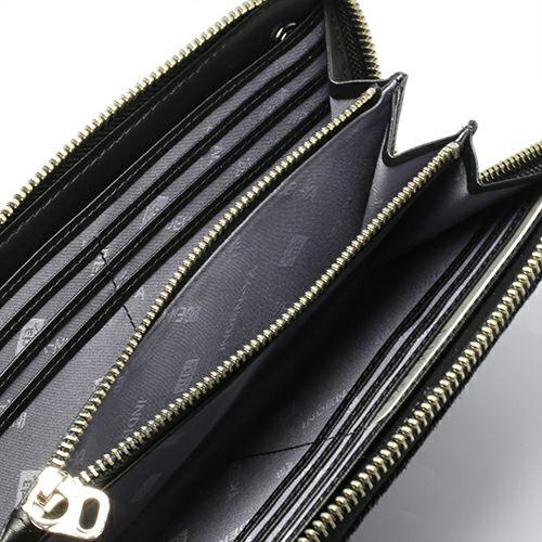 印傳屋(印伝屋) ファスナーロングウォレット -山梨カモフラージュ- / 長財布