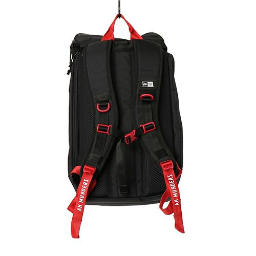 【JAM HOME MADE(ジャムホームメイド)】NEW ERA/ニューエラ ラックサック Ah Murderz for Red Spider / リュック メンズ レディース ユニセックス リュック バックパック ブラック コラボ RedSpider Jr