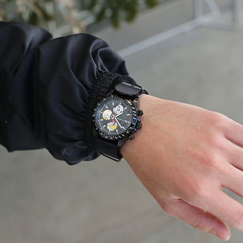 """シークレットミッキー""""MICKEY""""ウォッチ TYPE-1 NATO -BLACK- / 腕時計"""