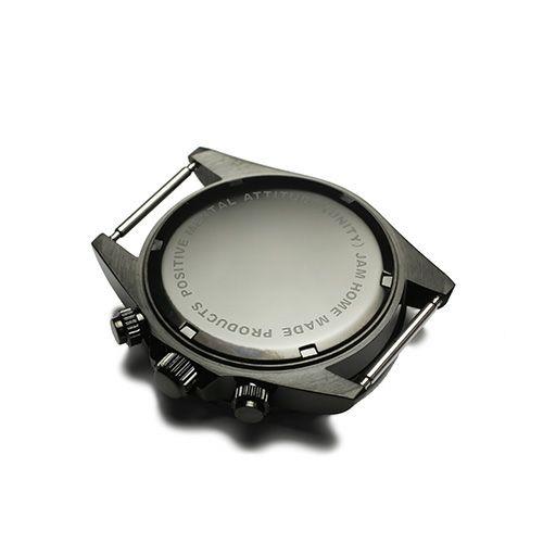 """腕時計 / シークレットミッキー""""MICKEY""""ウォッチ TYPE-1 NATO -BLACK×MONO- メンズ レディース ユニセックス ブラック ディズニー モノクロ 10気圧 アナログ クロノグラフ クォーツ ナトー 生活防水 20mm"""