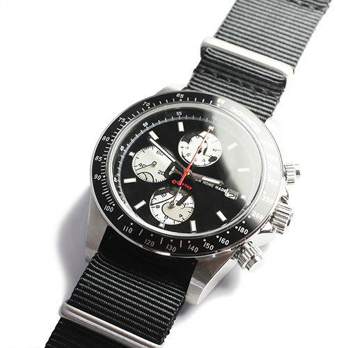 """シークレットミッキー""""MICKEY""""ウォッチ TYPE-1 NATO -SILVER×MONO- / 腕時計"""