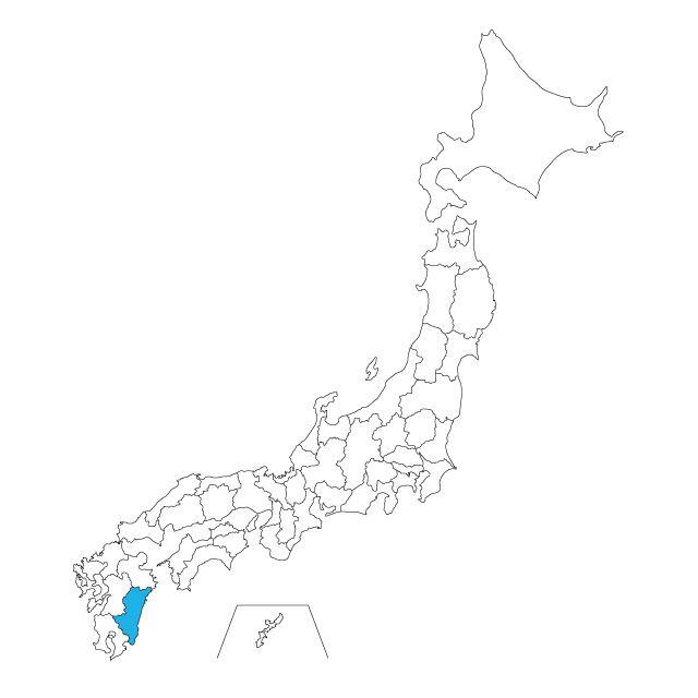 日本地図 宮崎県ネックレス