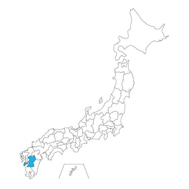 日本地図 熊本県ネックレス
