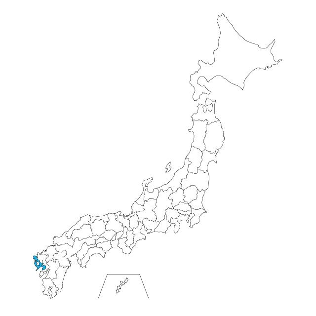 日本地図 長崎県ネックレス / ネックレス