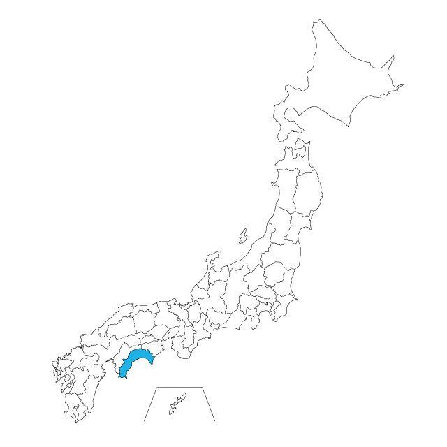 日本地図 高知県ネックレス