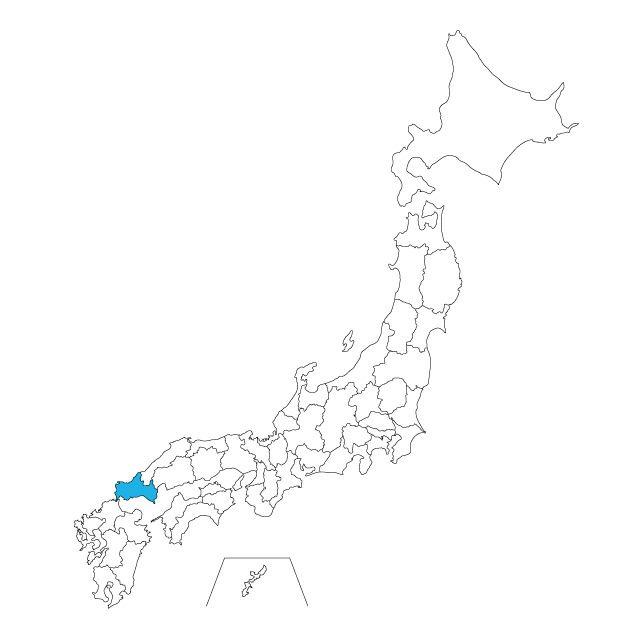 日本地図 山口県ネックレス