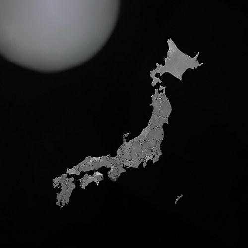 日本地図 岡山県ネックレス