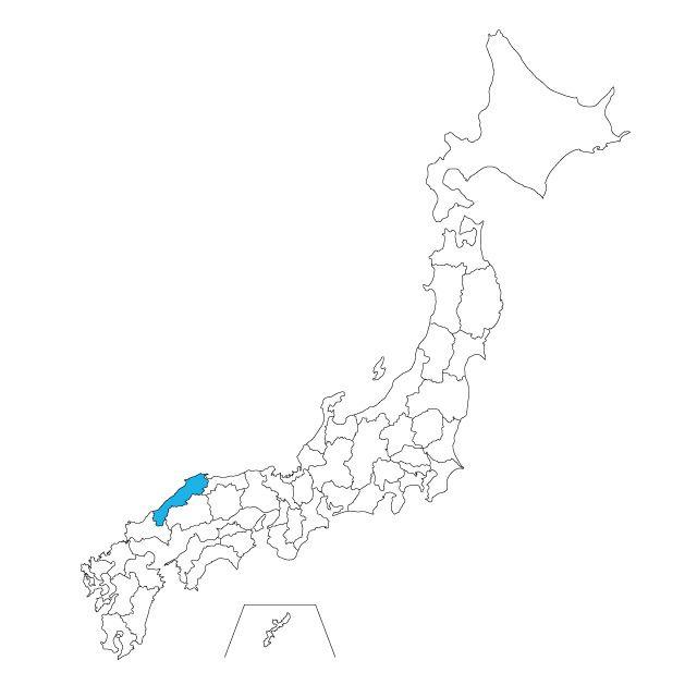 日本地図 島根県ネックレス