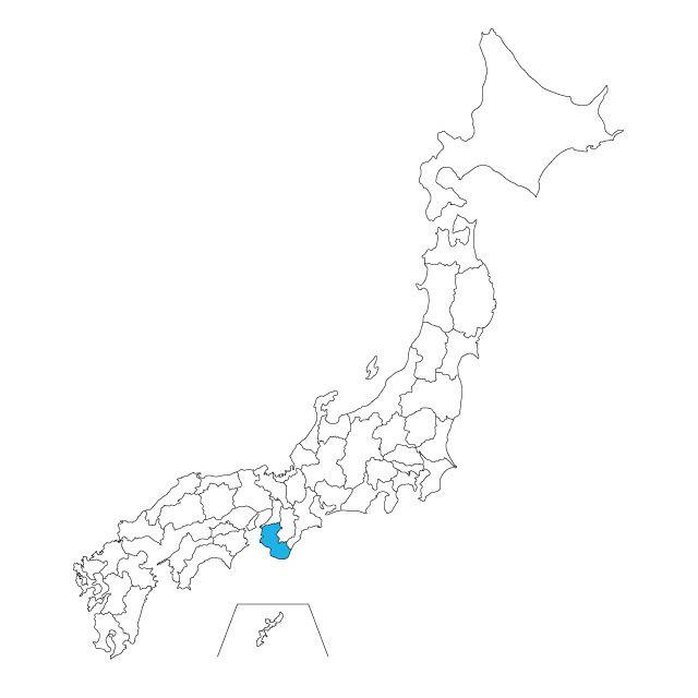 日本地図 和歌山県ネックレス