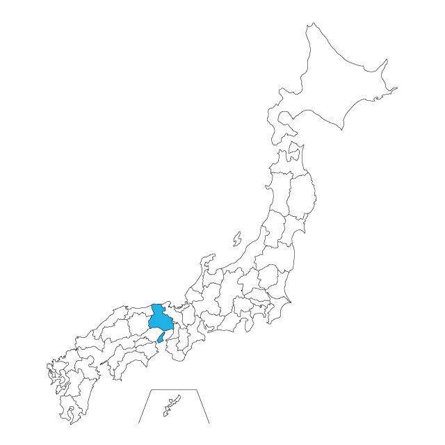 日本地図 兵庫県ネックレス