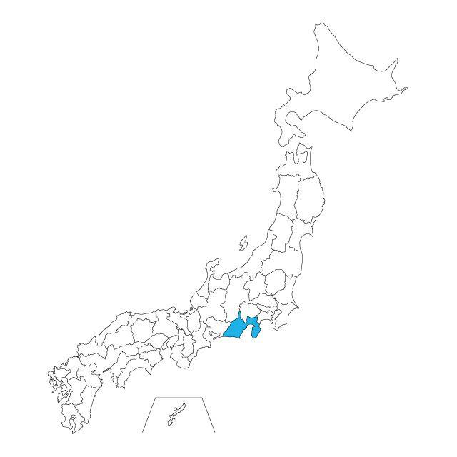 日本地図 静岡県ネックレス / ネックレス