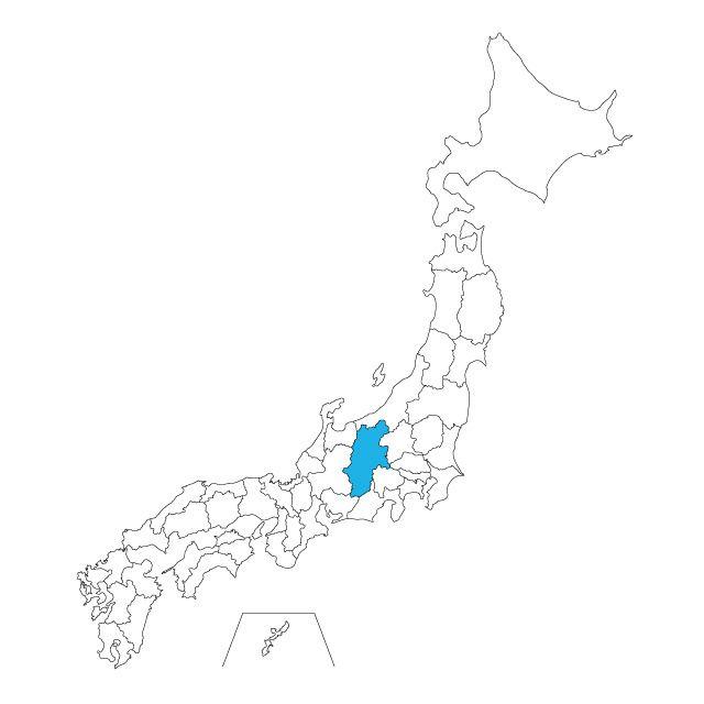 日本地図 長野県ネックレス