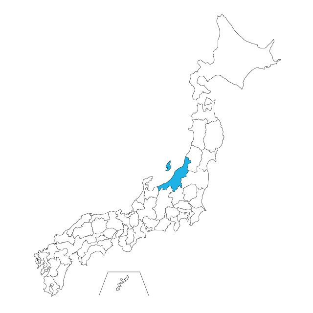 日本地図 新潟県ネックレス