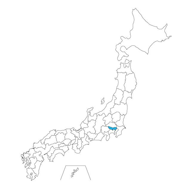 日本地図 東京都ネックレス / ネックレス