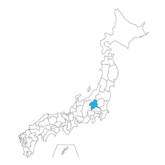 日本地図 群馬県ネックレス