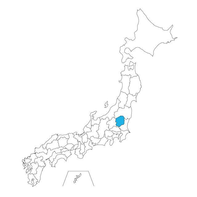 日本地図 栃木県ネックレス