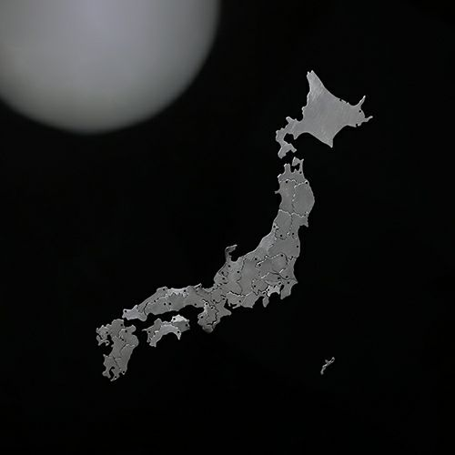【ジャムホームメイド(JAMHOMEMADE)】日本地図 茨城県 ネックレス