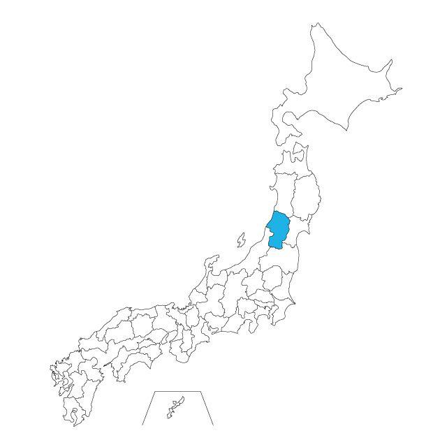 日本地図 山形県ネックレス