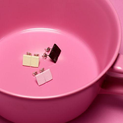 """ピアス / """"INGOD/インゴット"""" シェアピアス """"チョコレート"""" メンズ レディース シルバー 925 人気 おすすめ ブランド ペア バレンタイン ホワイトデー"""
