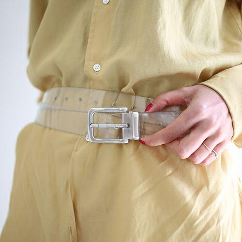 ファッション小物ベルト / SVバックルベルト -MODERN- メンズ 人気 おすすめ ブランド シルバー 925 受注生産 オメガ式 付け替え レザー/革