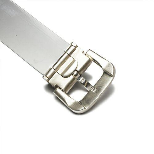 ファッション小物ベルト / SVバックルベルト -NATO- メンズ 人気 おすすめ ブランド シルバー 925 受注生産 オメガ式 付け替え レザー/革