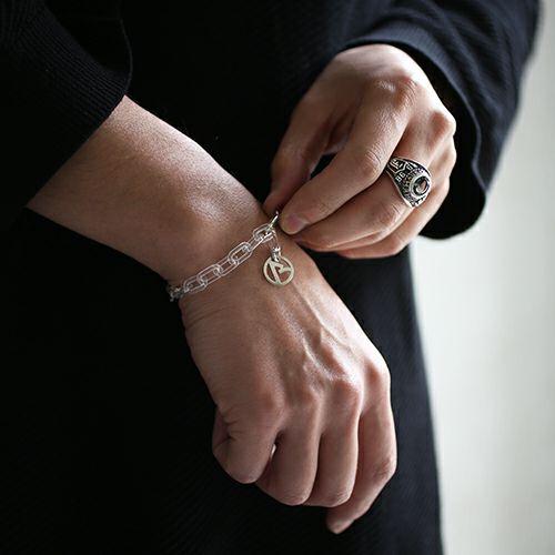"""【JAM HOME MADE(ジャムホームメイド)】""""ア"""" からホイールネックレス&ブレスレット L メンズ ブランド シルバー プレゼント シンプル チェーン ネックレス セット"""