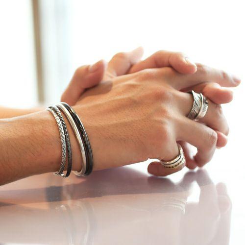 ブレスレット / リアルダイヤモンド ペア バングル -BLACK- メンズ レディース 人気 ブランド シンプル ダイヤモンド ギフト