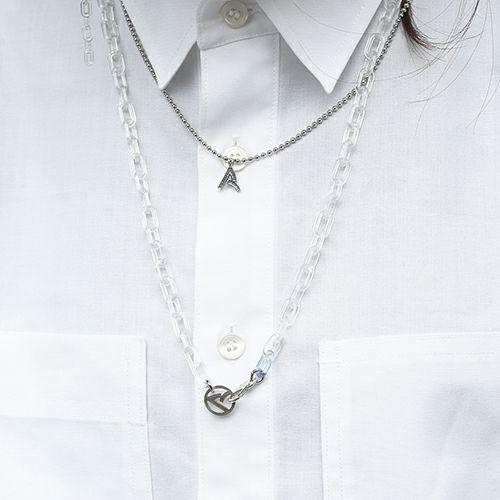 """【JAM HOME MADE(ジャムホームメイド)】""""ア"""" からネックレス M メンズ レディース ブランド シルバー プレゼント シンプル ペア ネックレス"""