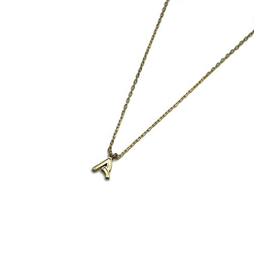 """ネックレス / """"ア"""" からネックレス S -K10YELLOW GOLD- レディース ブランド ゴールド プレゼント シンプル ペア ネックレス"""