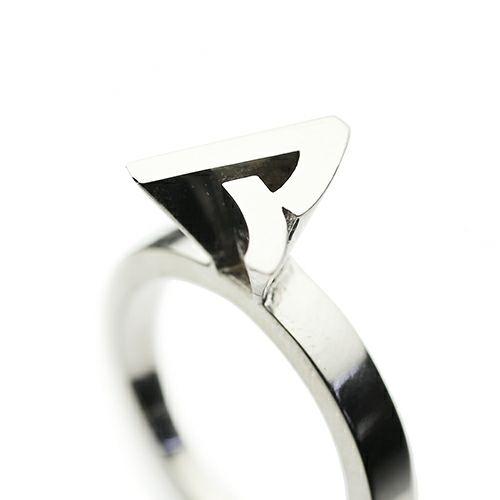"""指輪 / """"ア"""" から立て爪リング レディース シルバー 925 人気 ブランド おすすめ プレゼント クラシック"""