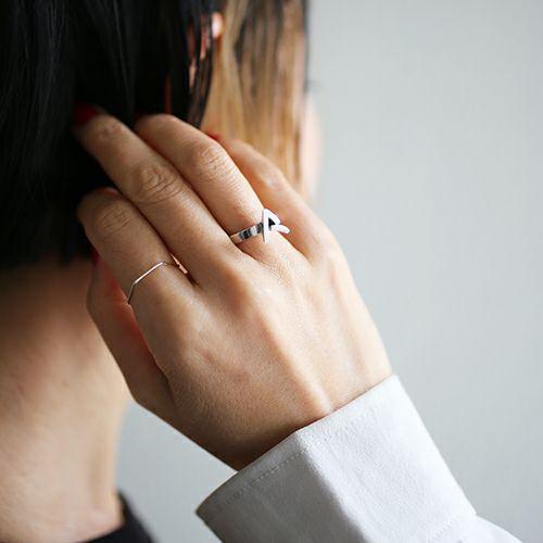 """【ジャムホームメイド(JAMHOMEMADE)】""""ア"""" から立て爪 リング / 指輪"""