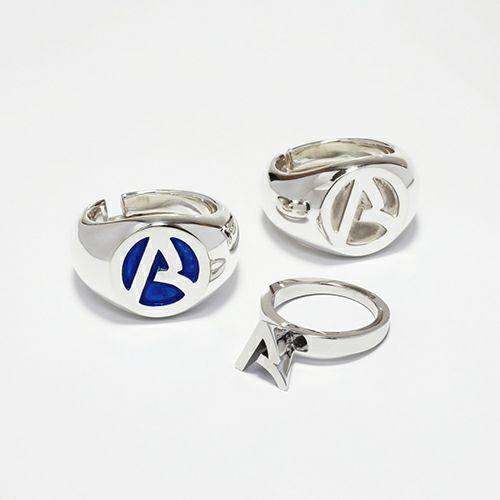 """""""ア"""" からリング -BLUE- / 指輪"""