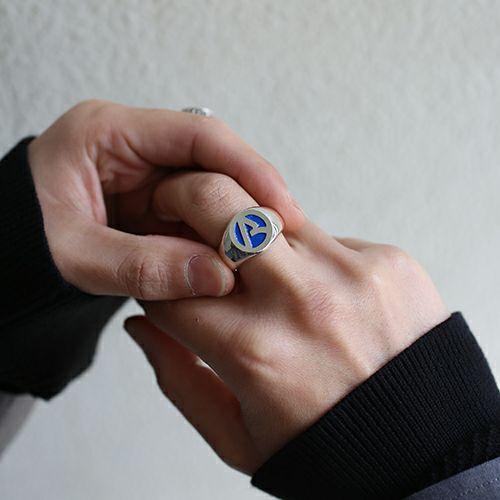 """【JAM HOME MADE(ジャムホームメイド)】""""ア"""" からリング -BLUE- / 指輪 メンズ レディース シルバー 925 人気 ブランド おすすめ プレゼント"""