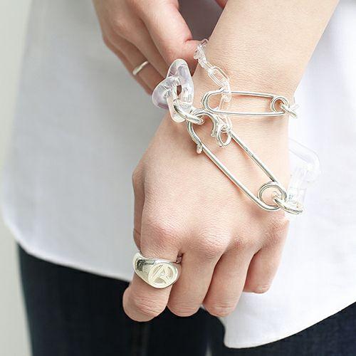 """指輪 / """"ア"""" からリング -BLUE- メンズ レディース シルバー 925 人気 ブランド おすすめ プレゼント"""
